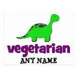 Vegetarian - Dinosaur Design Post Cards