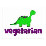Vegetarian - Dinosaur Design Postcard