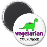 Vegetarian - Dinosaur Design Refrigerator Magnet