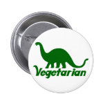 Vegetarian Dinosaur Pinback Button