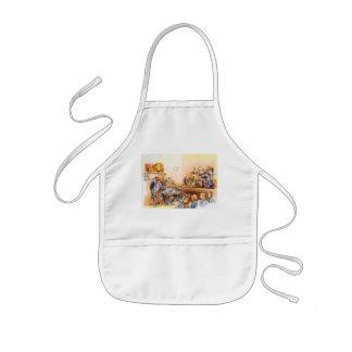 Vegetarian face kids apron