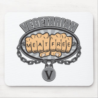 Vegetarian Fists Mouse Pad
