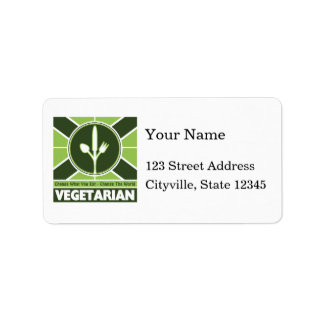 Vegetarian Flag Address Label