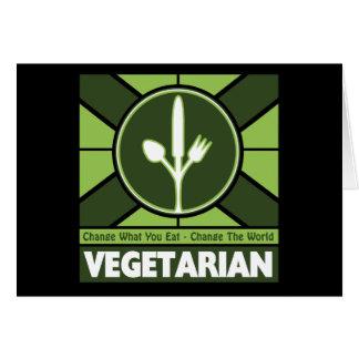 Vegetarian Flag Greeting Card