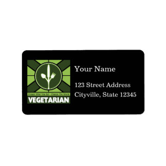 Vegetarian Flag Address Label