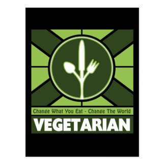 Vegetarian Flag Postcard