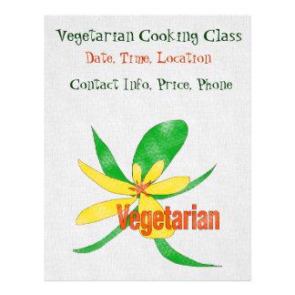 Vegetarian Flower 21.5 Cm X 28 Cm Flyer
