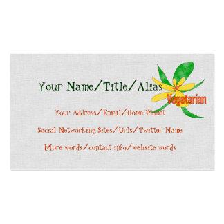 Vegetarian Flower Pack Of Standard Business Cards