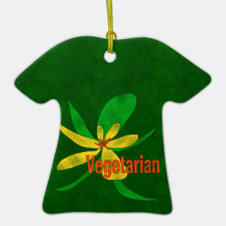 Vegetarian Flower Christmas Ornament