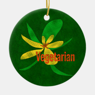 Vegetarian Flower Christmas Ornament