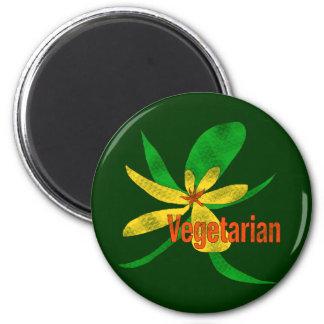 Vegetarian Flower Fridge Magnets