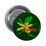 Vegetarian Flower Pinback Buttons