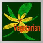 Vegetarian Flower Print