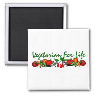 Vegetarian For Life Refrigerator Magnets