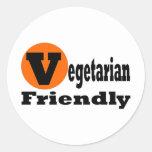 Vegetarian Friendly Round Stickers