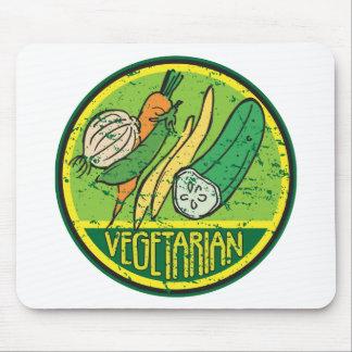 Vegetarian Grunge Mouse Pad