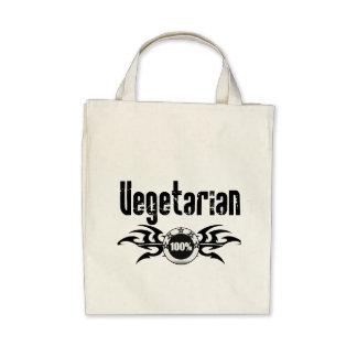 Vegetarian Grunge Winged Emblem Canvas Bag