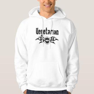 Vegetarian Grunge Winged Emblem Hooded Pullover