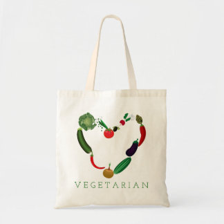 Vegetarian Heart Tote Bag