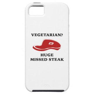 Vegetarian? Huge Missed Steak iPhone 5 Case