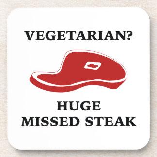 Vegetarian? Huge Missed Steak Drink Coaster