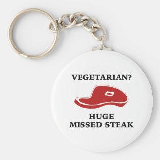 Vegetarian? Huge Missed Steak Keychains