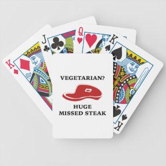 Vegetarian? Huge Missed Steak Bicycle Card Deck