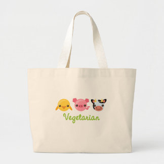 Vegetarian Large Tote Bag