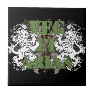 Vegetarian Lions Tile