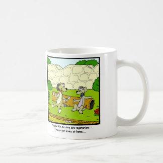 Vegetarian Masters: Dog cartoon Basic White Mug
