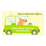 Vegetarian Meal Delivery Business Double-Sided Standard Business Cards (Pack Of 100)