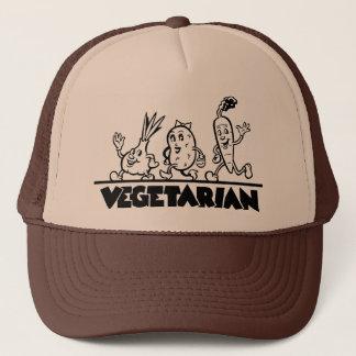 Vegetarian merchandise trucker hat