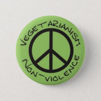 Vegetarian Non-Violence Button