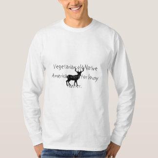 Vegetarian: old Native American wor... T-Shirt