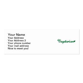 Vegetarian Pack Of Skinny Business Cards