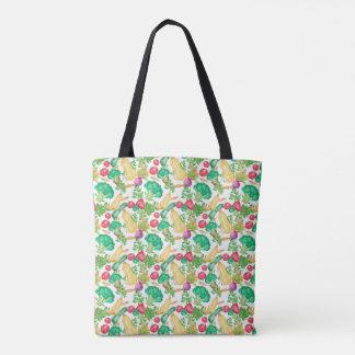 Vegetarian Pattern Tote Bag