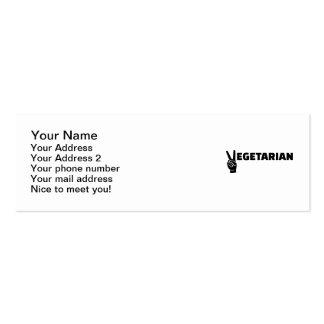 Vegetarian peace pack of skinny business cards
