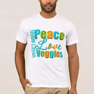 Vegetarian Peace Love Veggies T-Shirt