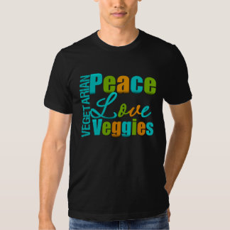 Vegetarian Peace Love Veggies T-shirts