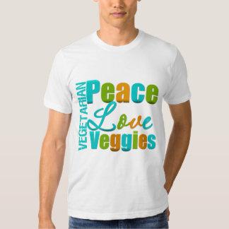 Vegetarian Peace Love Veggies Tee Shirt