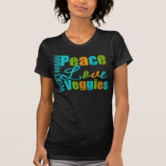 Vegetarian Peace Love Veggies Tshirt