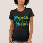 Vegetarian Peace Love Veggies Tshirts