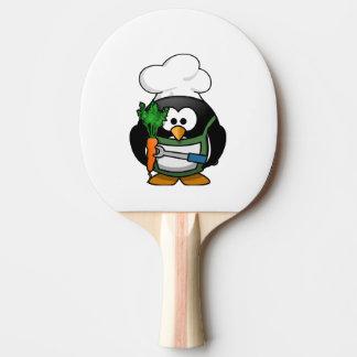 Vegetarian Penguin Chef Ping Pong Paddle