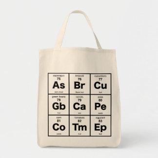 Vegetarian Periodic Table Tote Bag