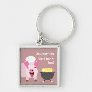 Vegetarian Pig Keychaing Keychains
