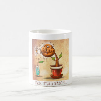 vegetarian plant funny cartoon coffee mug