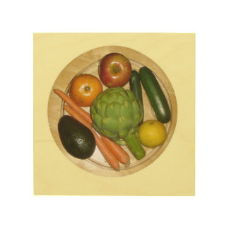 Vegetarian Plate Wood Canvases