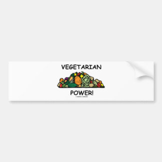 Vegetarian Power Vegetarian Humor Bumper Stickers