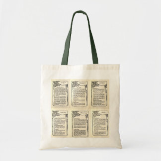 Vegetarian Recipe from a Vintage Cookbook Bags