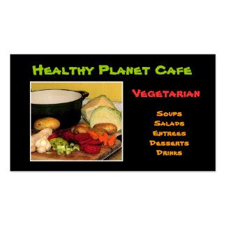 Vegetarian Restaurant Pack Of Standard Business Cards